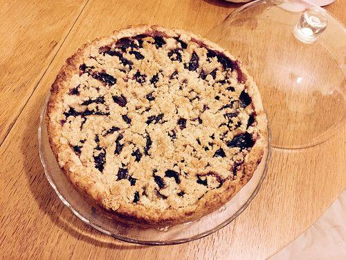 Пирог со сливой и миндальным кремом: verapapkova
