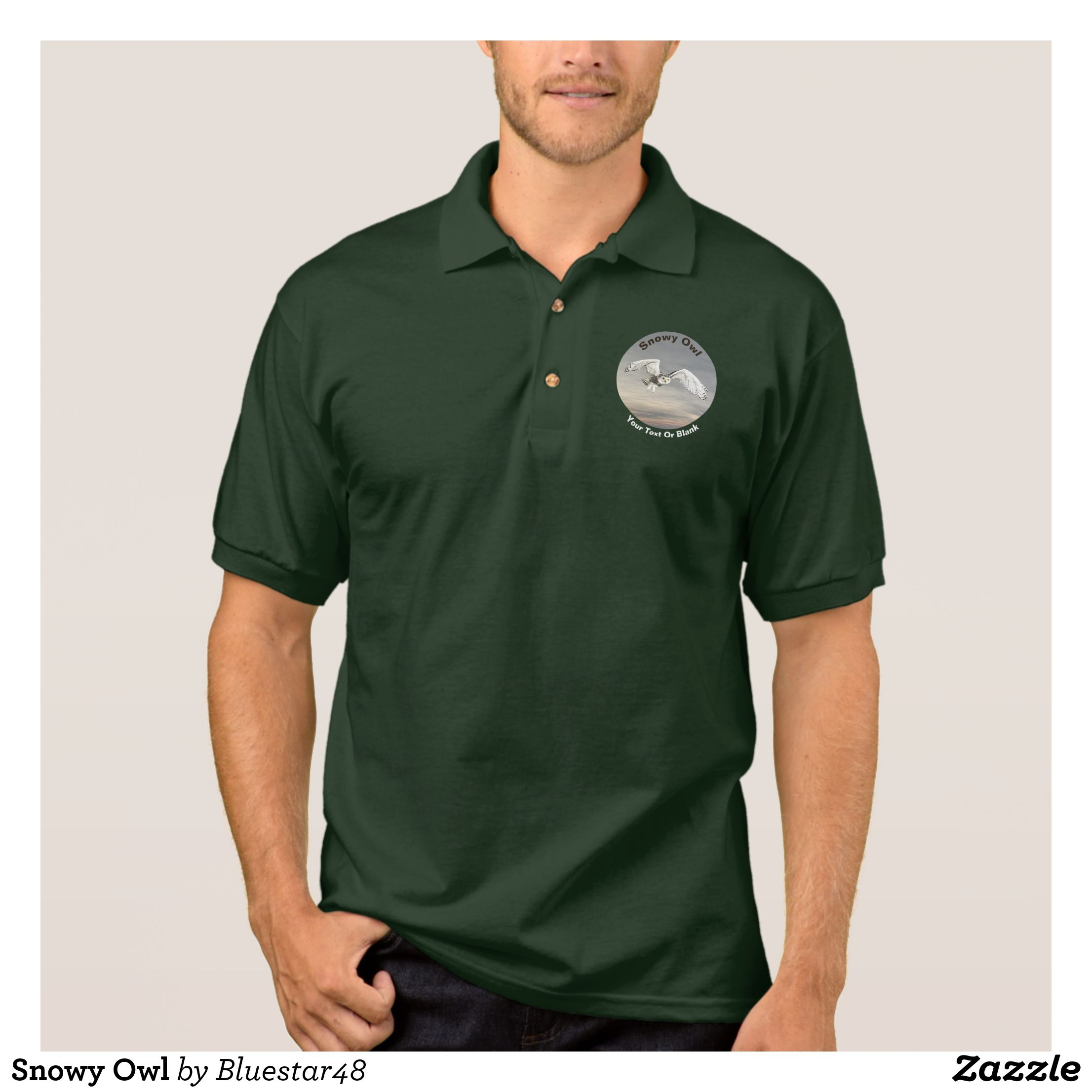Snowy Owl Polo Shirt In 2018 Mens Polo Shirts Cool And