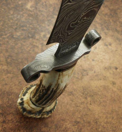 Cubiertos De Impacto Raro Cuchillo Machete Personalizada Damasco Mango Asta De Ciervo Knife Handles Knife Bladesmithing