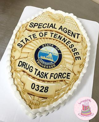 State Of Tennessee Police Badge Cake