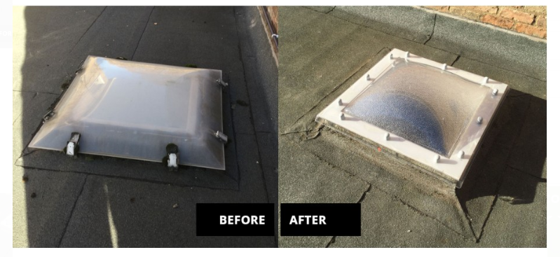 Retrofit Replacement Roof Light Domes Roof Light Dome Installation
