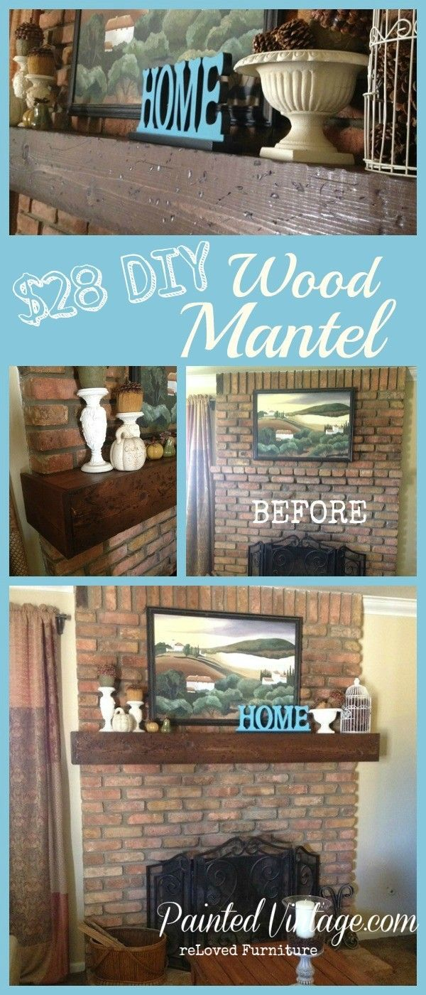 diy wood mantel tutorial on how to build your own wood mantel for