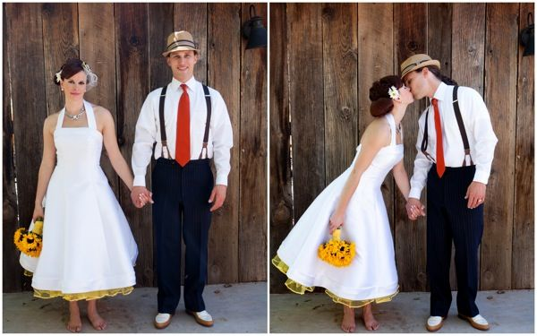 Retro Inspired Navy Yellow Woodland Wedding Part 2