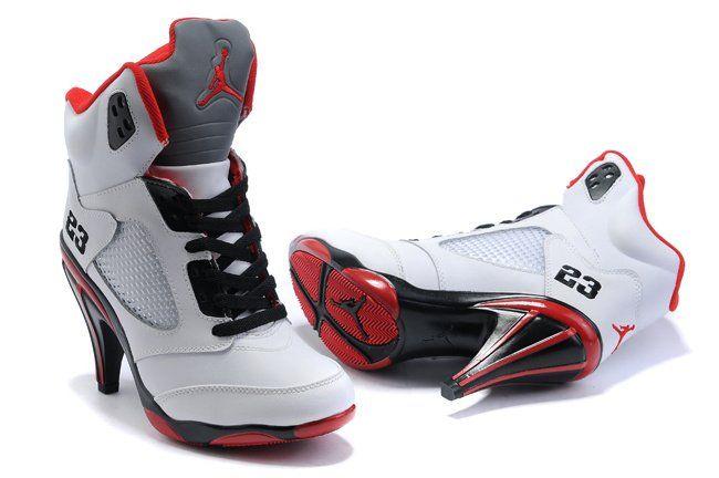 best sneakers e569e 27405 nike air jordan v 5 heels