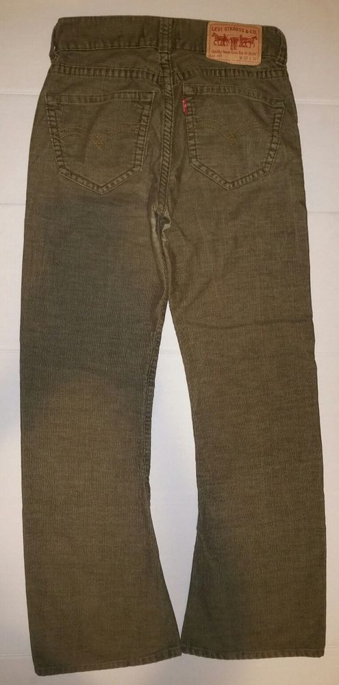 10f4ec34 Levi's Type 1 Jeans Bootcut Straight Corduroy Pants Men Size 32 x 30 Olive  Brown #Levis #RelaxedTapered