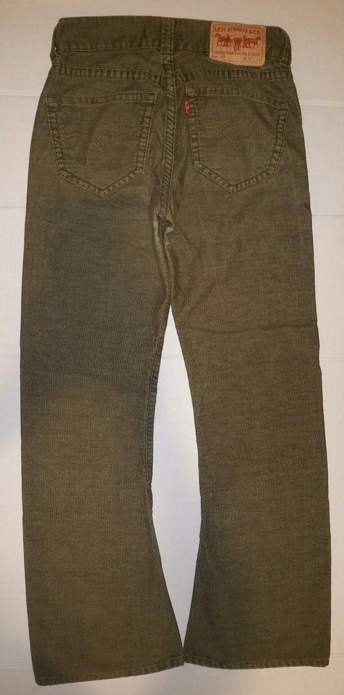 Levi's Type 1 Jeans Bootcut Straight Corduroy Pants Men Size 32 x ...