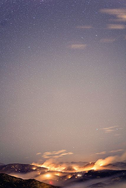 The night and the sky.