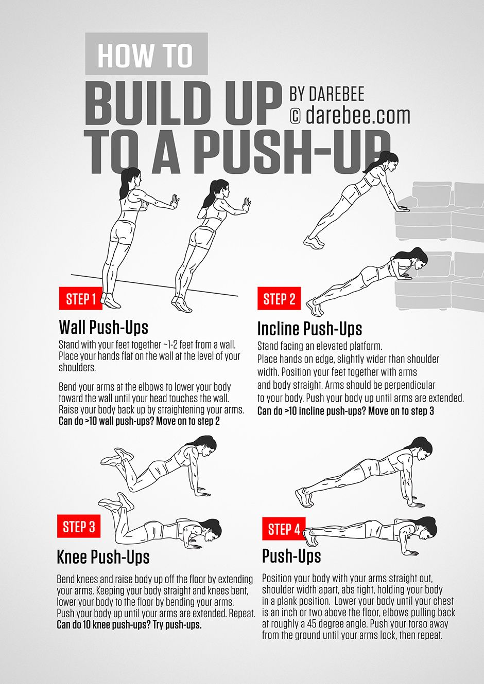 The 25 Best Push Up Ideas On Pinterest 30 Day Pushup Challenge T Pushup And Girl Pushups