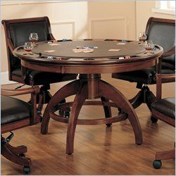 Modern Style Game Table With Chairs On Casters Poker Table