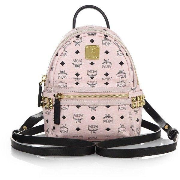 MCM Stark Side Stud X Mini Coated Canvas Backpack ($550