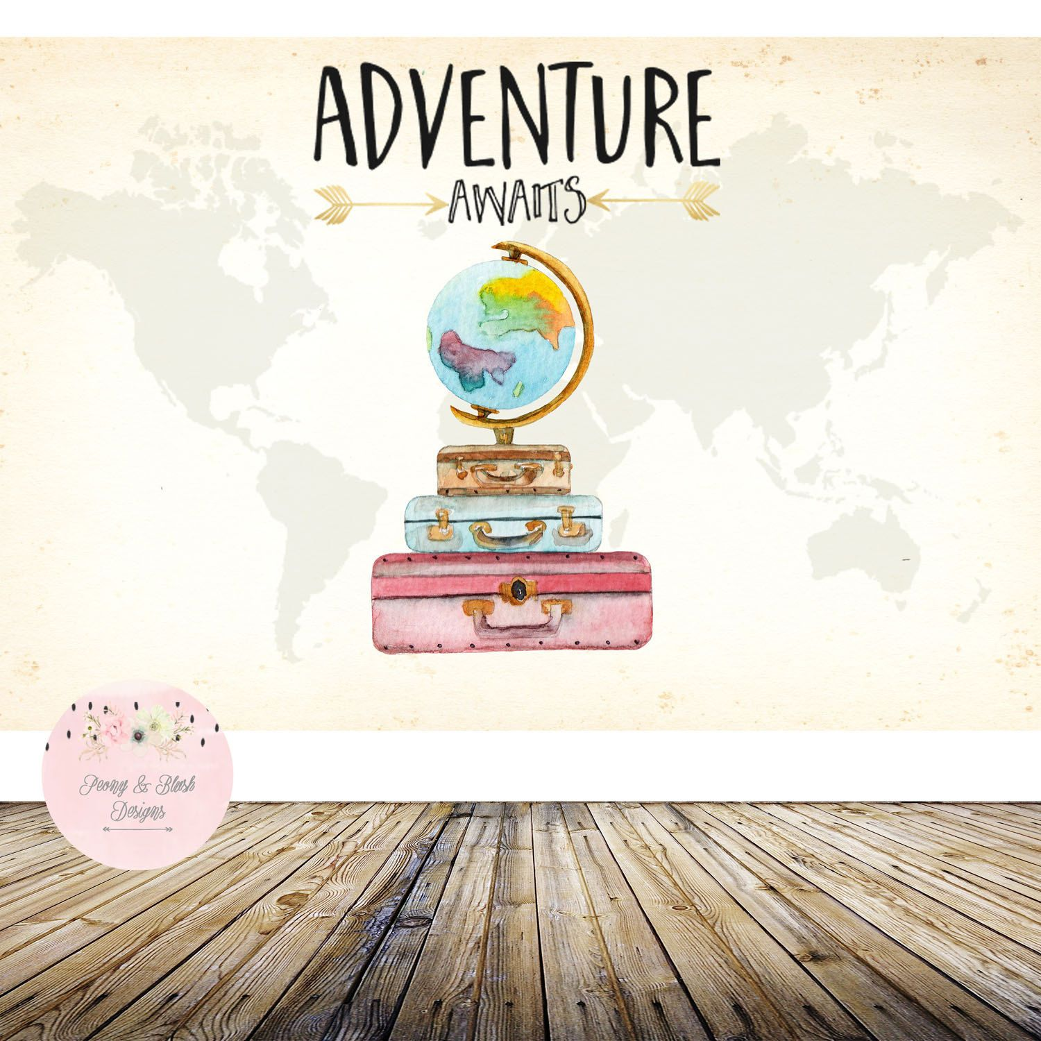 Adventure Awaits Backdrop Oh the places you ll go Backdrop Baby
