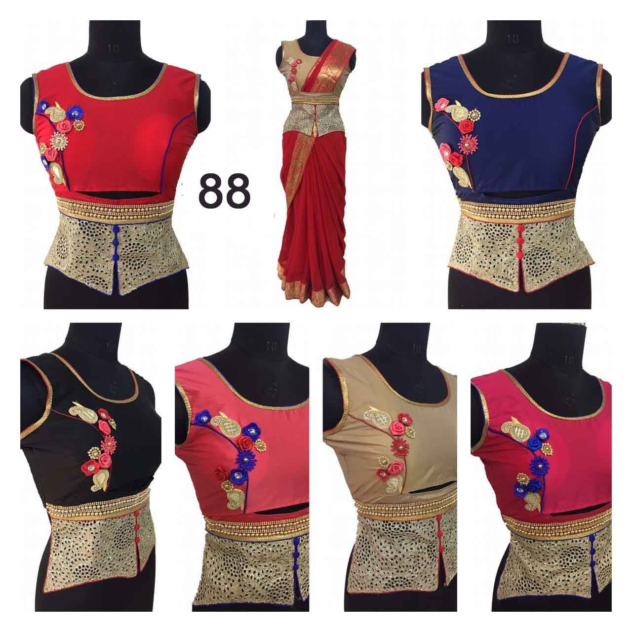 ff7878894751b0 King Sales New Latest Fancy Full Stitched Embroidery Designer Long Koti  Style Blouse With Hand Work @ Rs.685