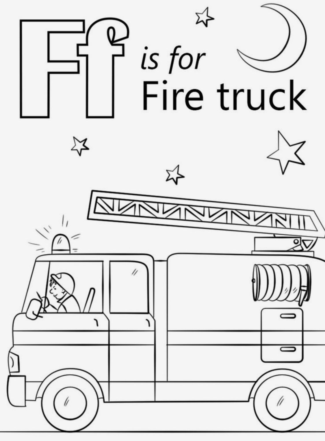 Fire Truck With Images Truck Coloring Pages Fire Trucks