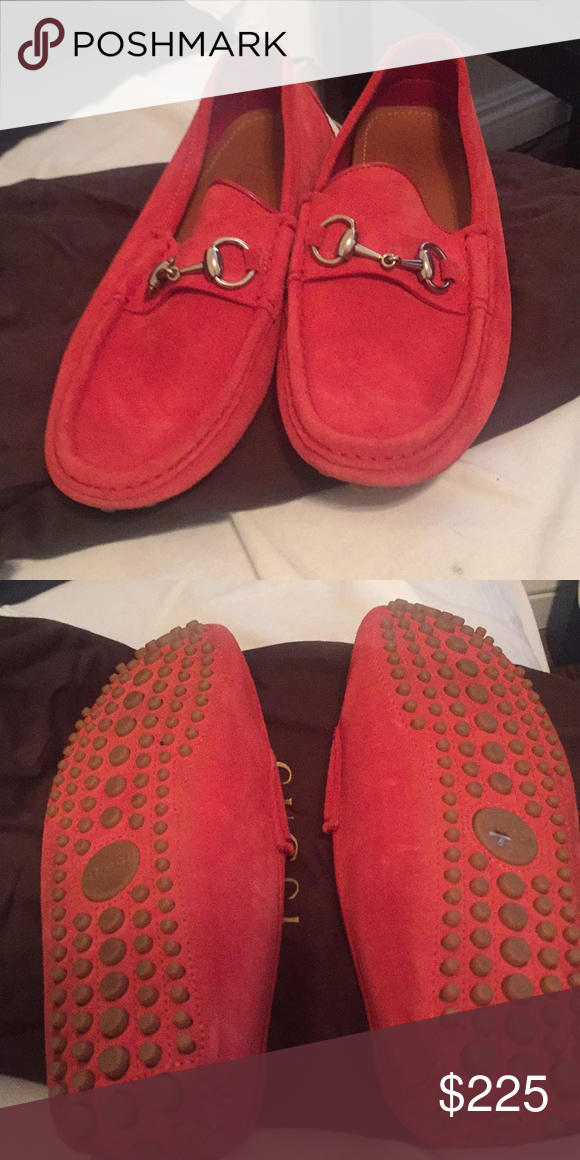 48584a103 Men's Gucci Drivers Men's red suede Gucci driver shoes size 6 Gucci Shoes  Loafers & Slip-Ons