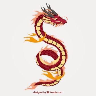 Resultado de imagen para dragones chinos dibujos tiernos