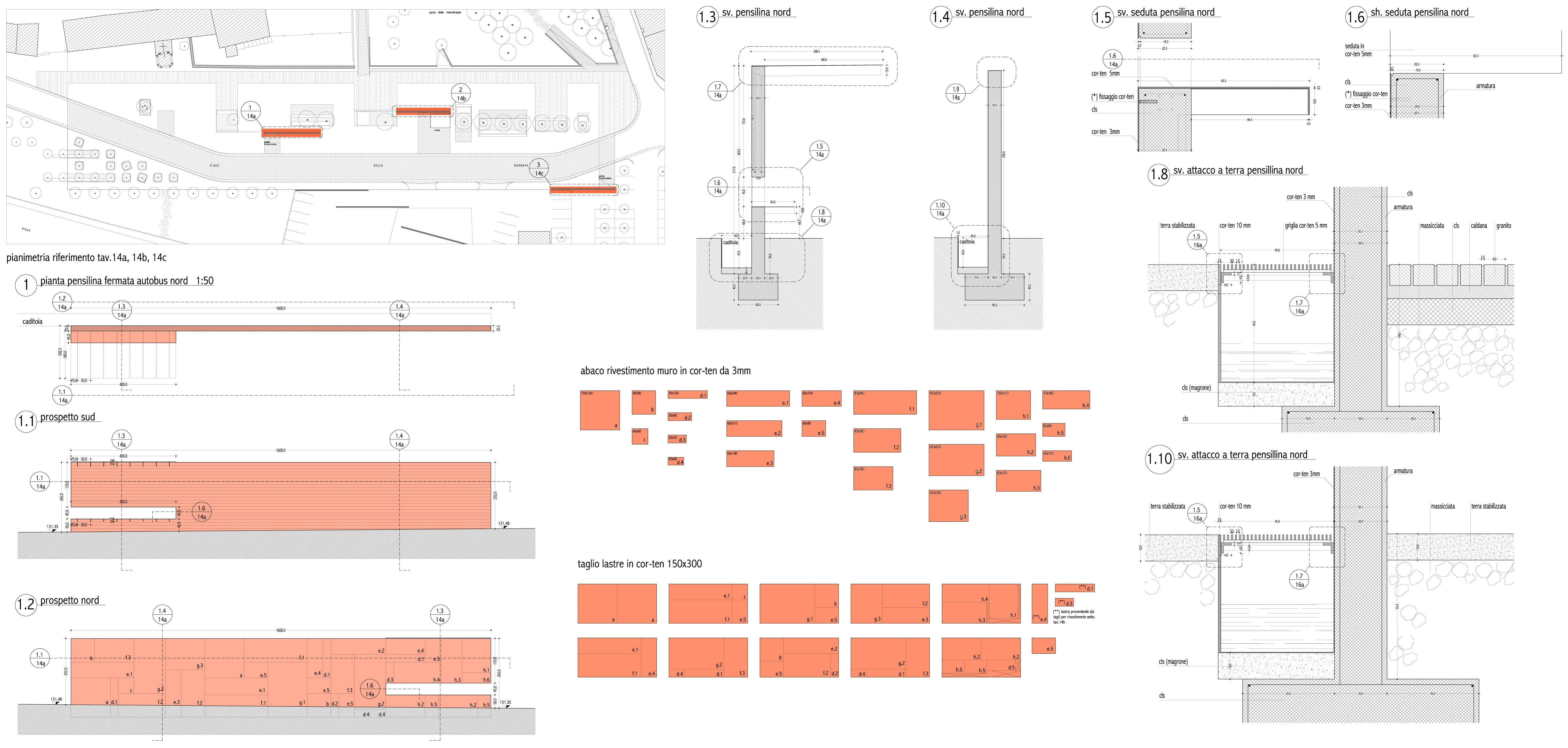 corten wall detail drawing paolo mestriner studioazero. Black Bedroom Furniture Sets. Home Design Ideas