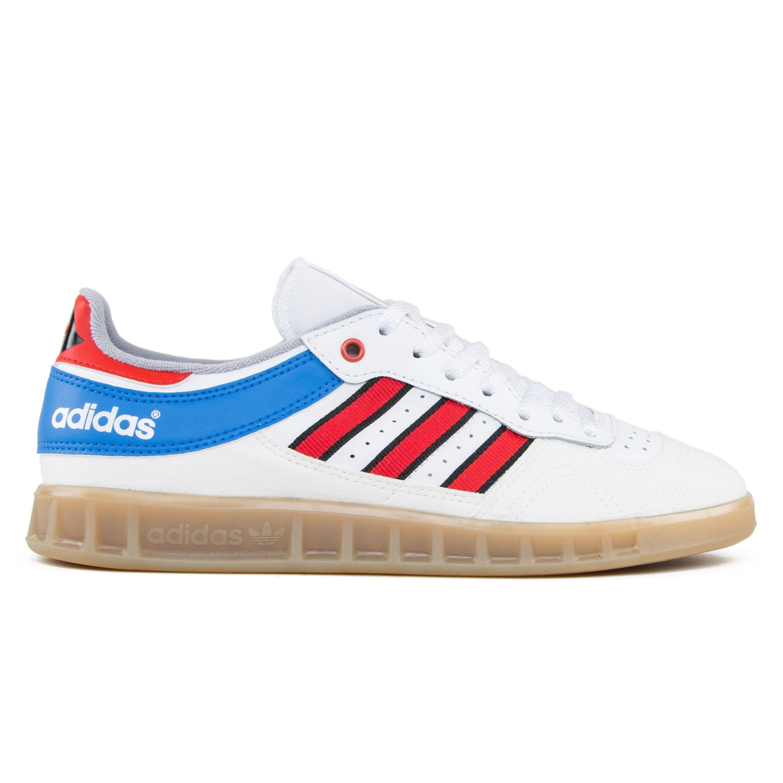 f0148b4b5 adidas Originals Handball Top (Vintage White -St/Tactile Red/Bright Royal)  - Consortium