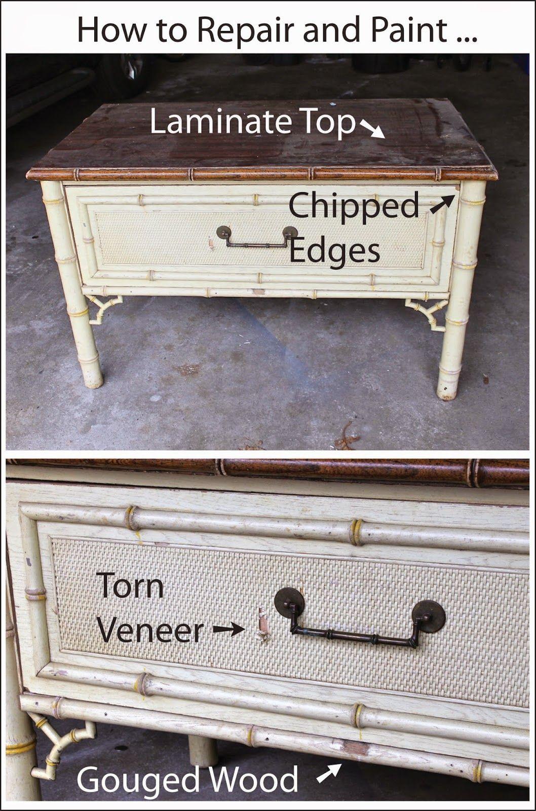 How To Repair And Paint Laminate Top Torn Veneer