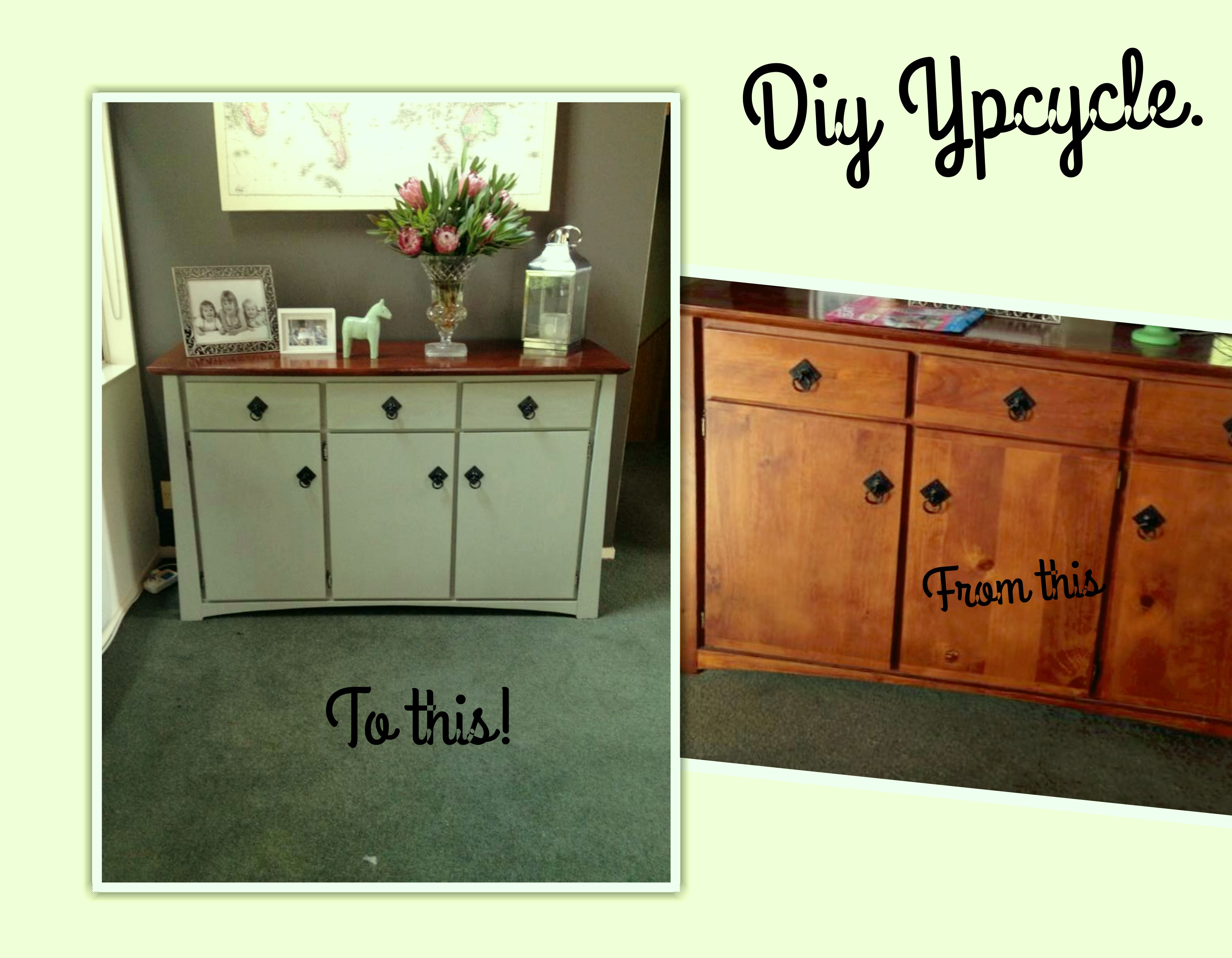 DIY Up Cycle In Newton's Sage Green.