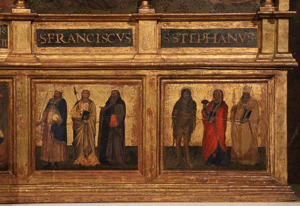 Niccolò di Pietro Gerini e Jacopo di Cione - Santi (predella) - 1383 - Chiesa dei Santi Apostoli, Firenze