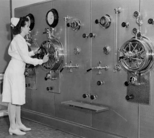 ☤ ☞ MD ☆☆☆ Modernized Operating Room Sterilizer, circa 1950s.