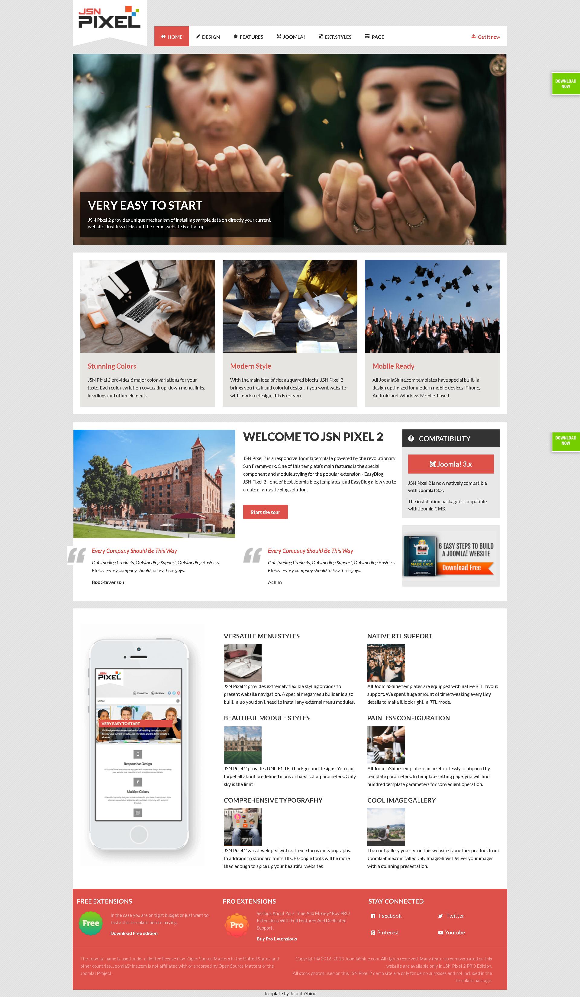 University Ii Education Joomla Template Joomla Ii University Education Website Template Design Web Development Design Web Design Tips