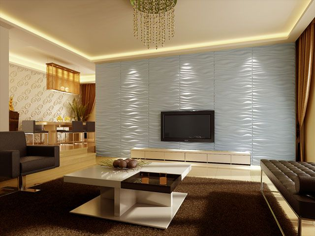 Du relief sur nos murs Living rooms, Salons and Walls - moderne wohnzimmerlampen