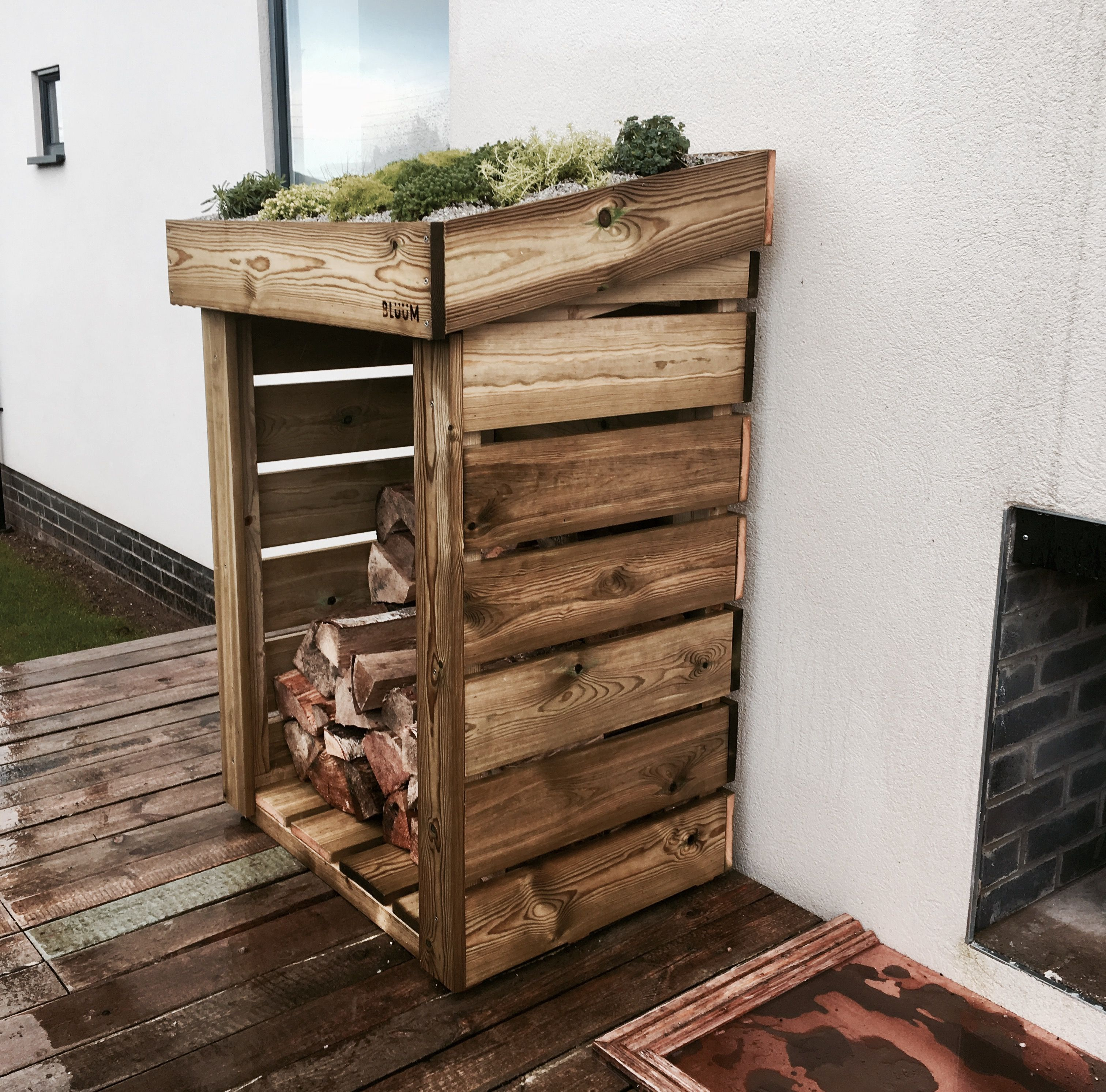 a u0027mini u0027 bluum log store hand made and situated next to a lovely