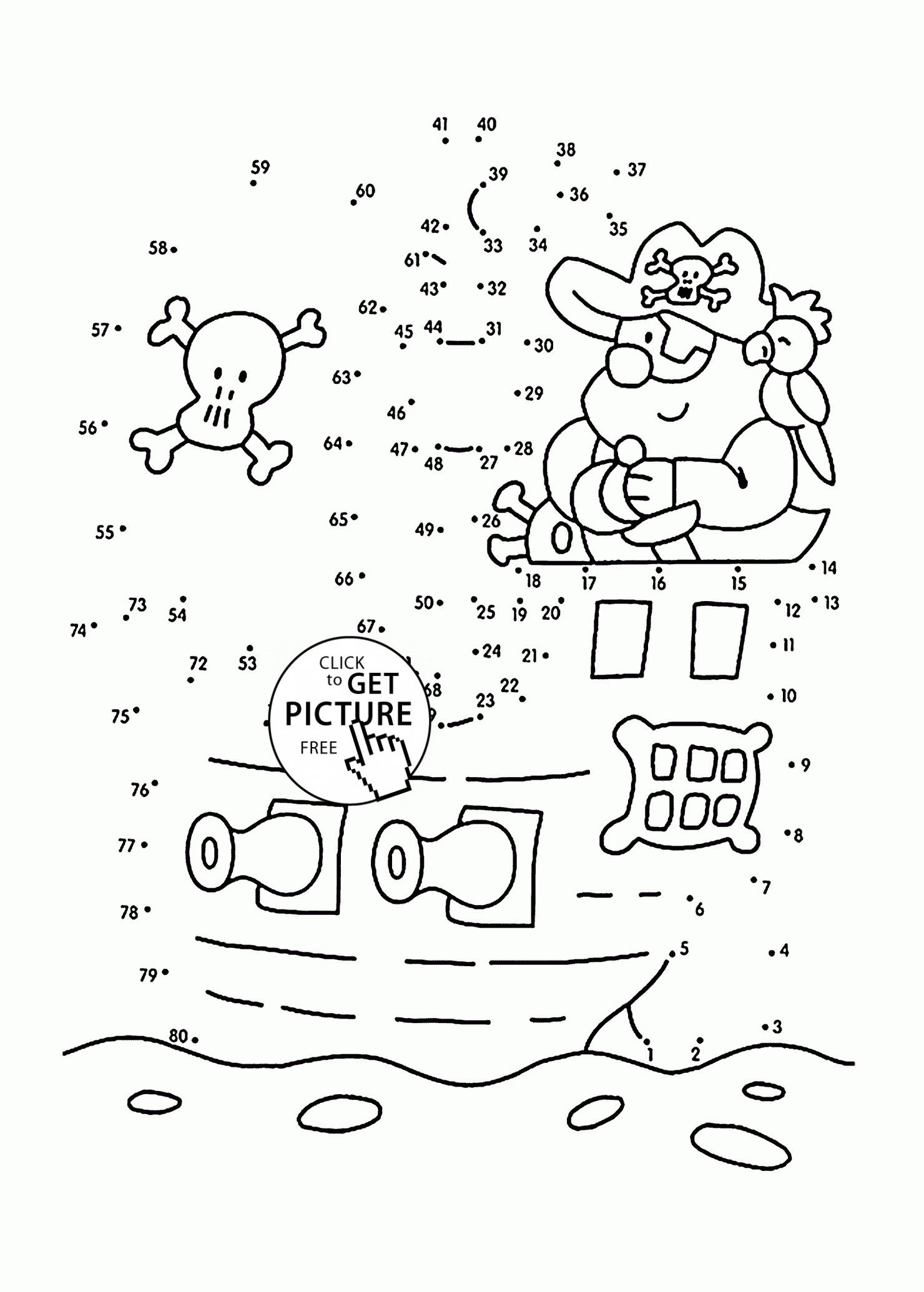 Treasure Chest Coloring Page Lovely Pirate Dot to Dot