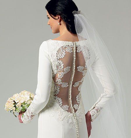 B5779 Misses\' Wedding Dress   Pinterest   Brautkleid und Nähen