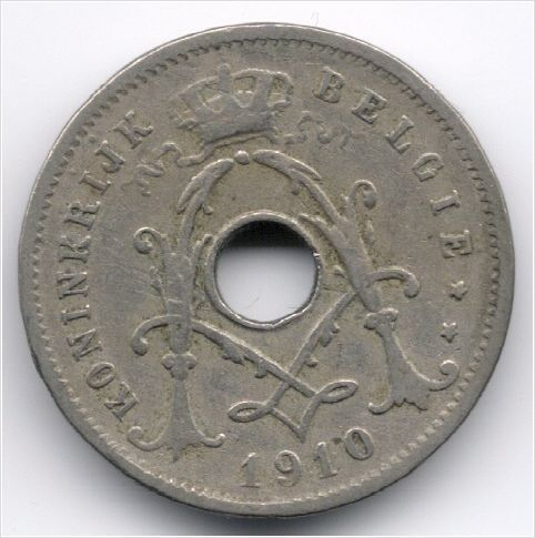 Belgium 5 Centimen 1910 Dutch Legend - IJ with dots Veiling in de België,Europa (niet of voor €),Munten,Munten & Banknota's Categorie op eBid België