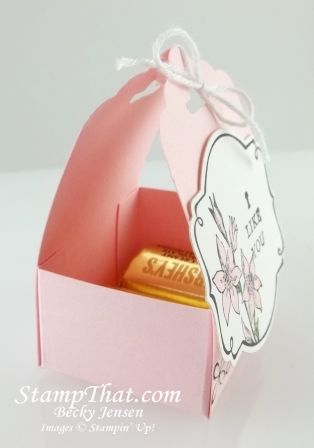 Hershey Nugget favor box