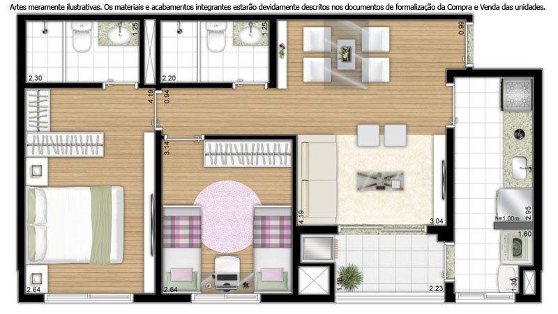 planta de casas 60m2 Pesquisa Google Casas, Plantas de