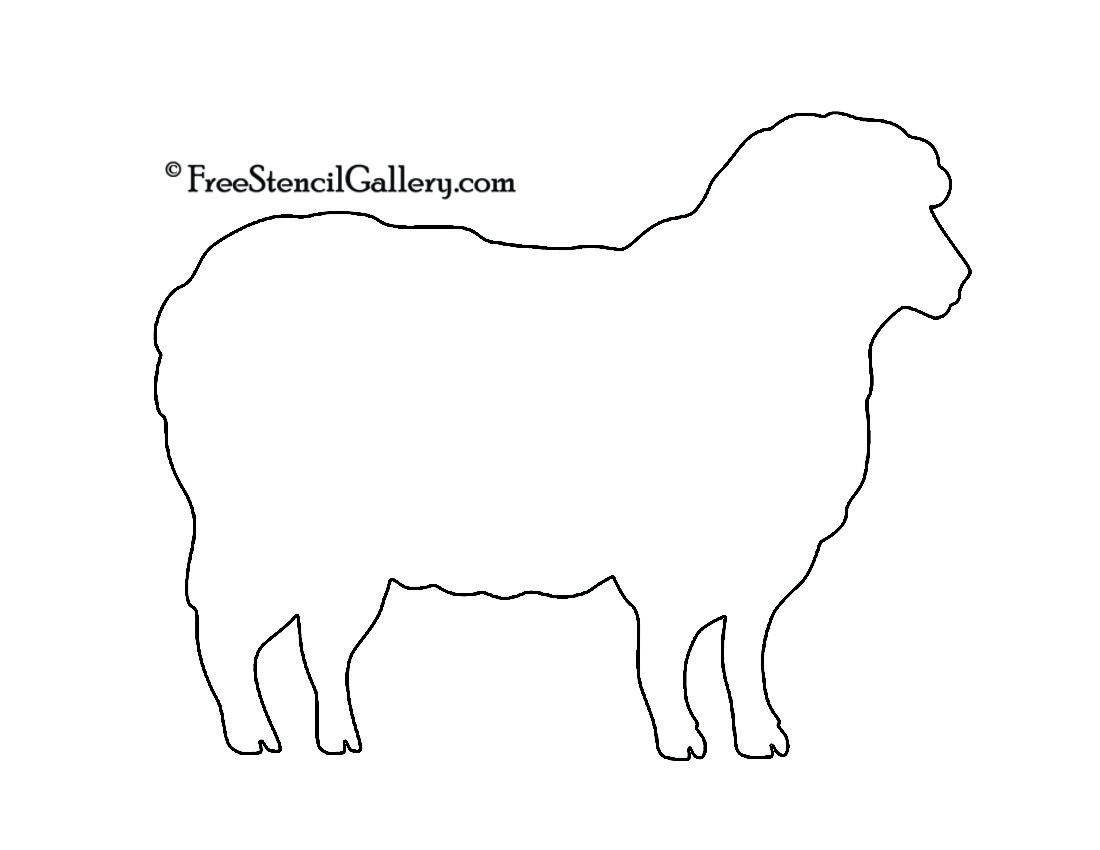 Sheep Silhouette 02 Stencil | SHEEP! | Pinterest | Stenciling ...