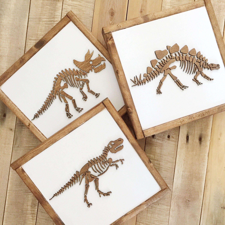 Dinosaur Sign Dinosaur Wall Art Boys Bedroom Decor