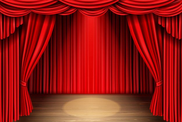 download red stage curtain for theater