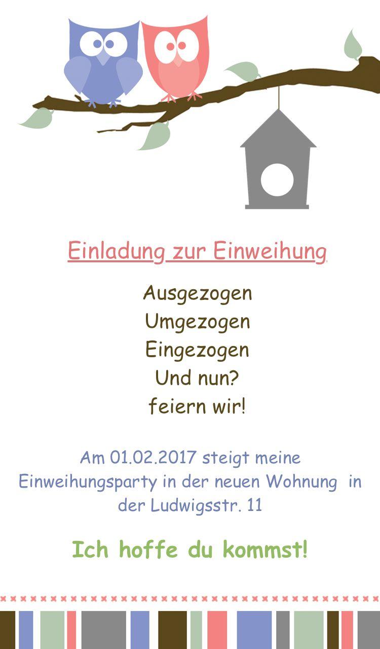 Pin Von Anne Bargholt Auf Einladuntg Einweihungsparty Einweihung Einladungen Selber Machen