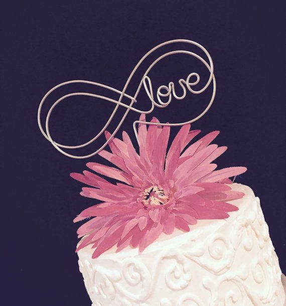 Double Infinity Love Wedding Cake Topper For A By Allegroart