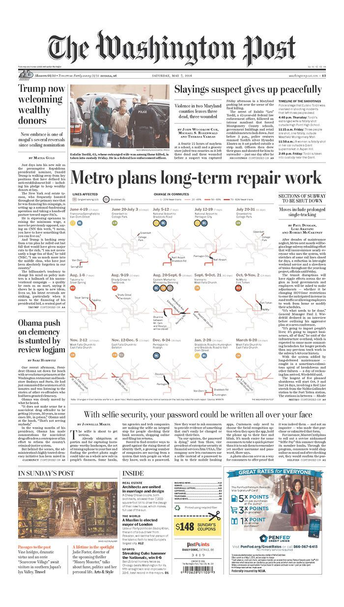 The Washington Post  Via Newseum  News Design