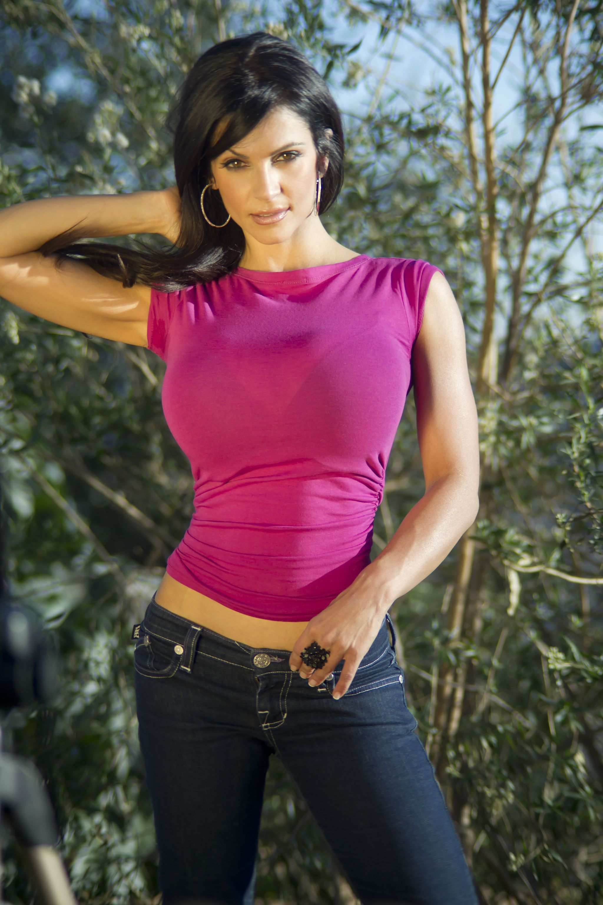 Denise Milani preview of her set Sitting in the Sun | Denise Milani ...