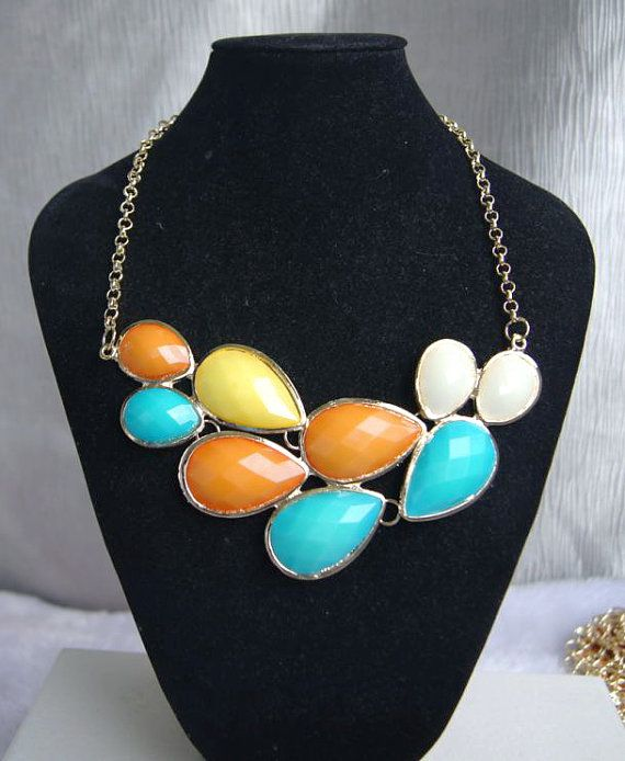 bubble statement necklace by Arkpearl on Etsy, $16.00