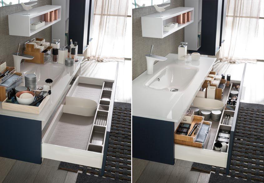 meuble salle de bain suspendu laqu bleu soft delpha - Meuble De Salle De Bain Delpha