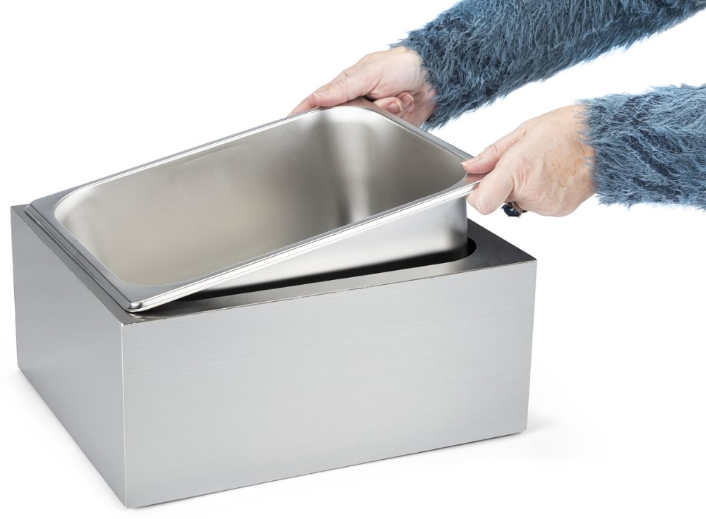 12 W X 6 5 H Ice Housing With Removable Tray Brushed Stainless