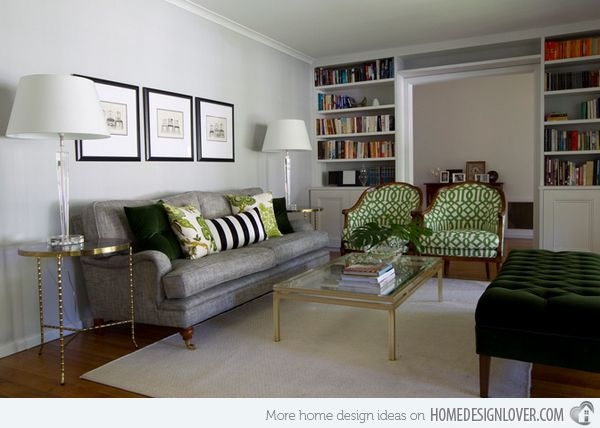 15 Lovely Grey And Green Living Rooms Part 49
