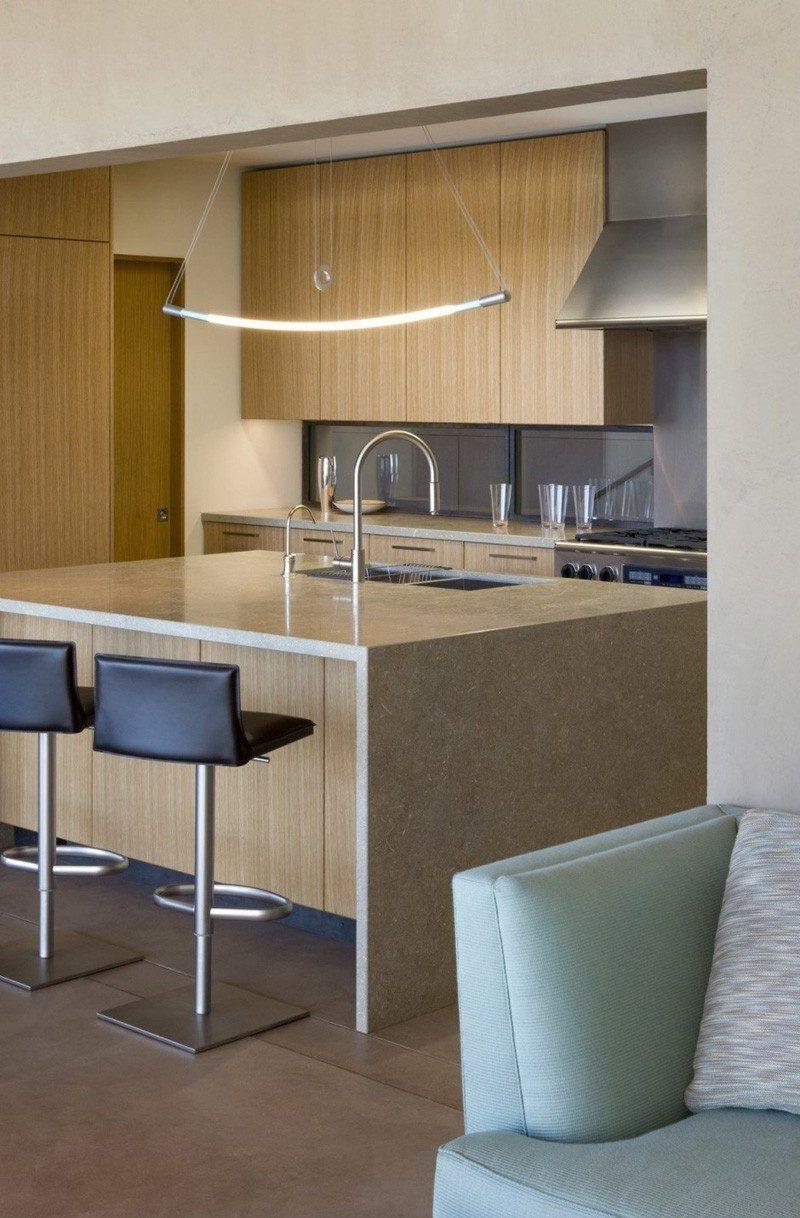 Kitchen island lighting idea u use one long light instead of