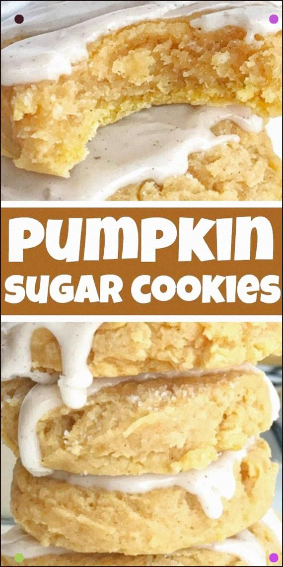 Glazed Pumpkin Sugar Cookies Pumpkin Cookies Pumpkin Recipe Glazed Pumpkin Sugar Cookies Are The Best Way To Enjoy Pumpkin Spice And Fall Flavors SoftBaked and Thick Pump...