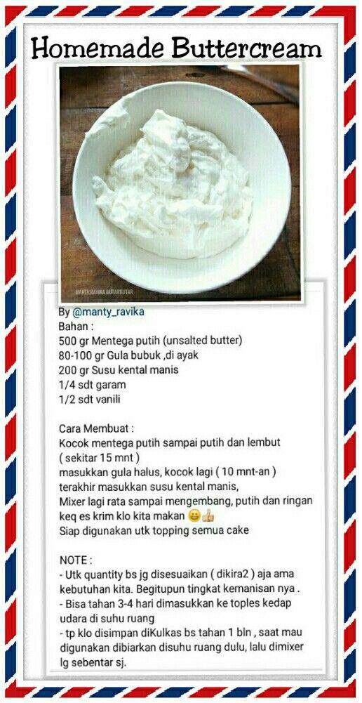 Resep Butter Resep Makanan Penutup Makanan Dan Minuman Ide Makanan