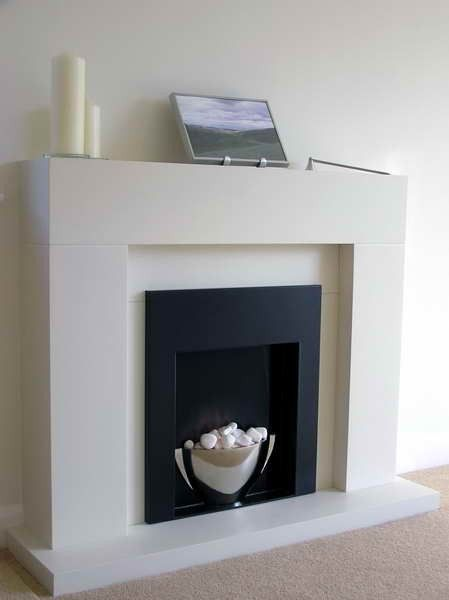 Simple White Modern Fake Fireplace Farmhouse Fireplace