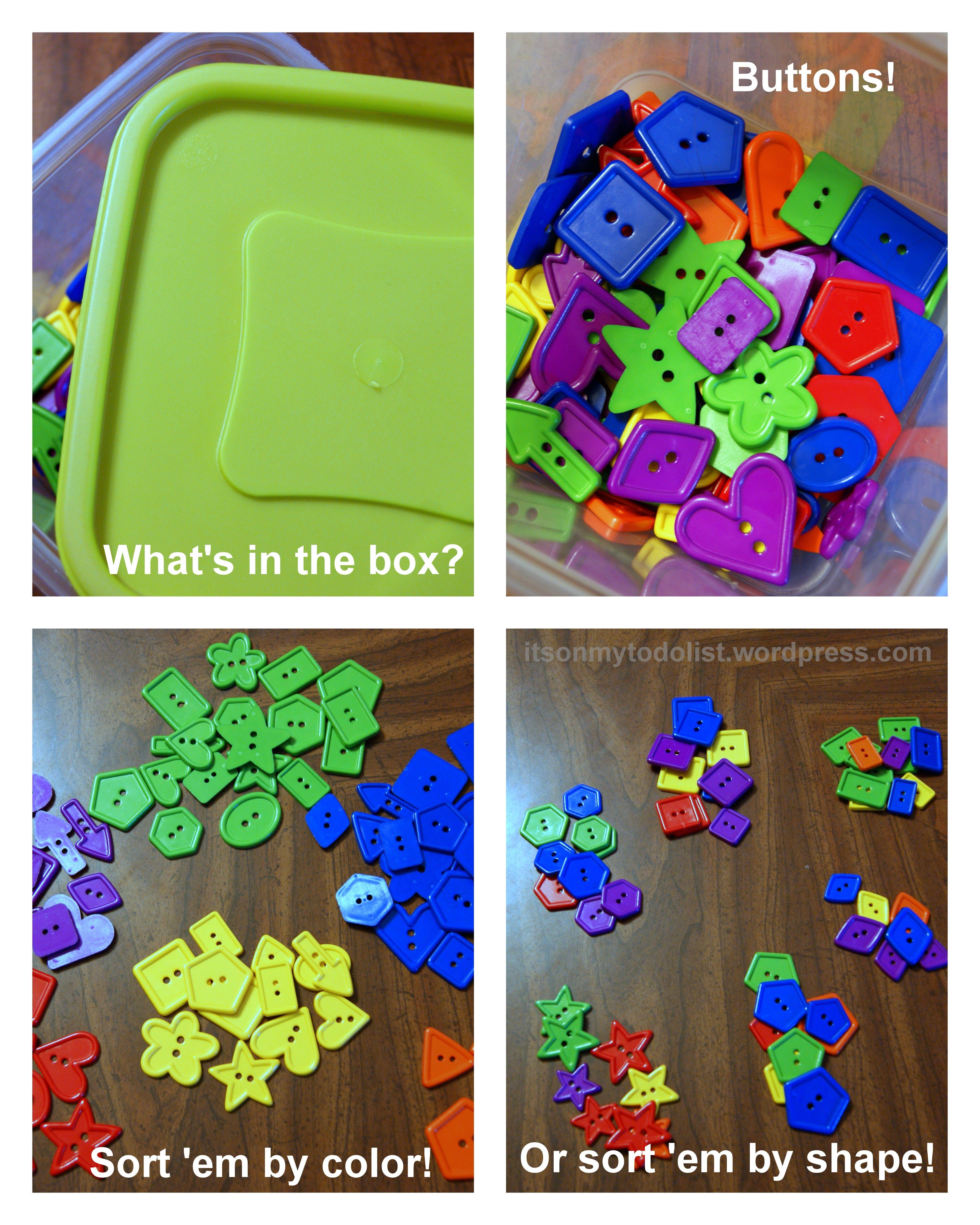 Sorting Buttons Worksheet For Kindergarten