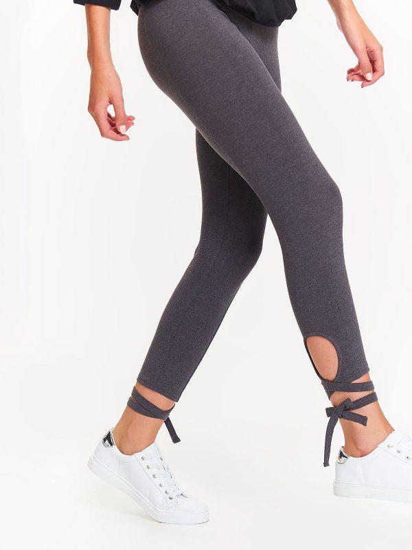 J2017 Legginsy Damskie Grafitowe Dle0038 Drywash Legging Fashion Pants